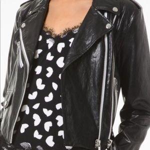NWT Michael Kors faux leather Moto jacket